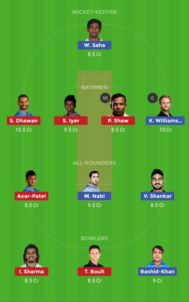 Grand League Team DC vs SRH Eliminator