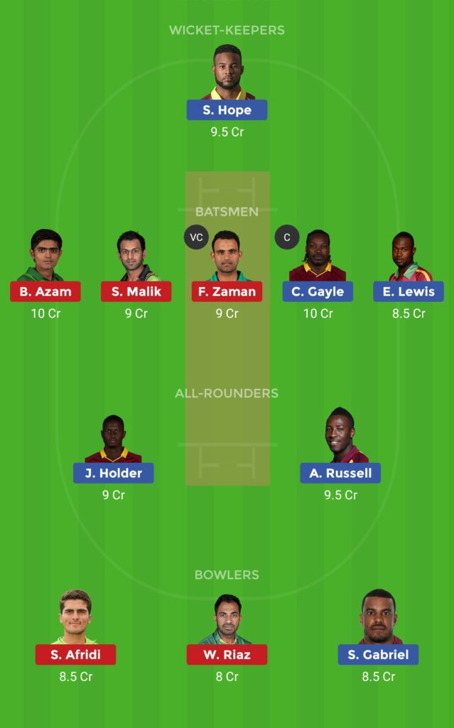 Grand League Team WI vs PAK