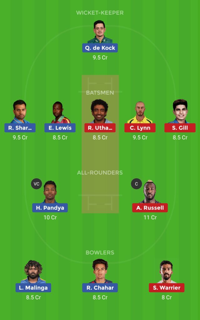 Small League Team MI vs KKR