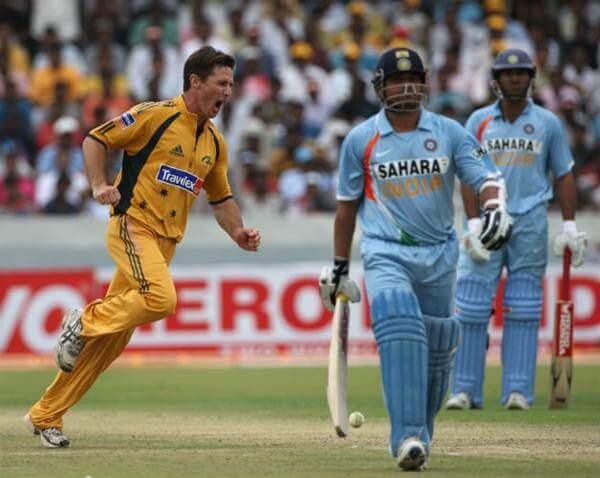 Brad Hogg dismissed Sachin Tendulkar
